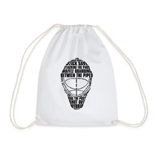 Ice Hockey Goalie Mask (black) - Drawstring Bag