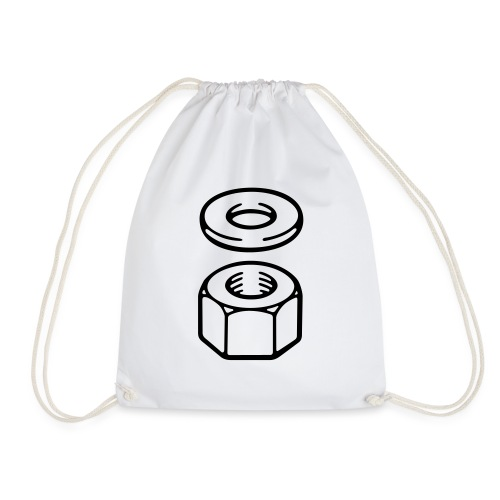 Nut and washer - Drawstring Bag