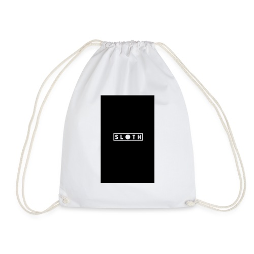 sloth white - Drawstring Bag