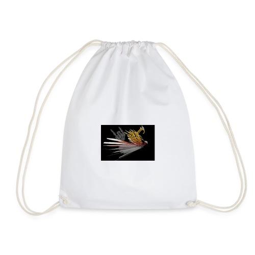 Abstarct Bird and Skeleton Hand - Drawstring Bag