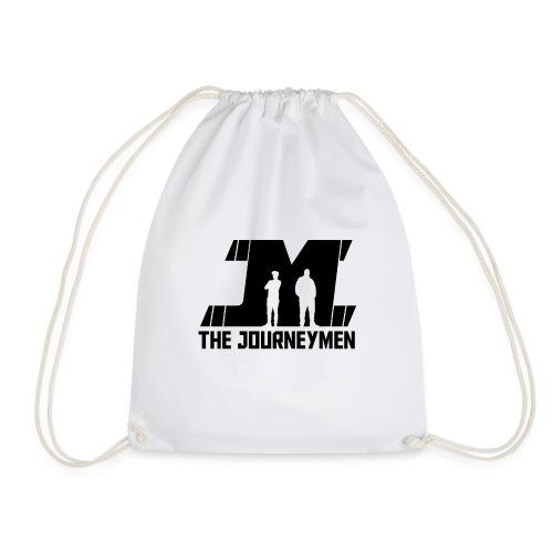 Black JourneyMen Logo - Drawstring Bag