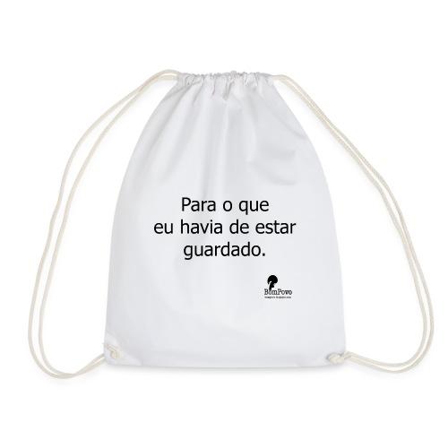 bompovo template branco - Drawstring Bag