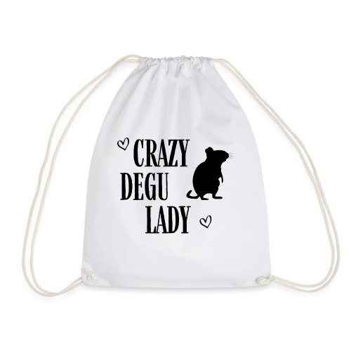 Crazy Degu Lady Geschenk für Deguhalterinnen - Turnbeutel