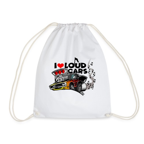 0560 I love loud cars - Gymtas