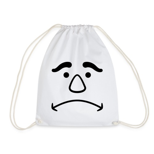 Disappointed Face - Drawstring Bag