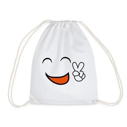 happy face and peace emoji - Mochila saco