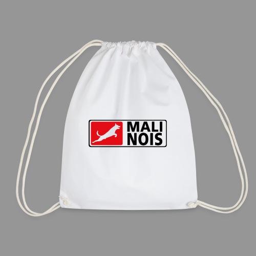 Malinois logo fuer weissen Grund - Turnbeutel