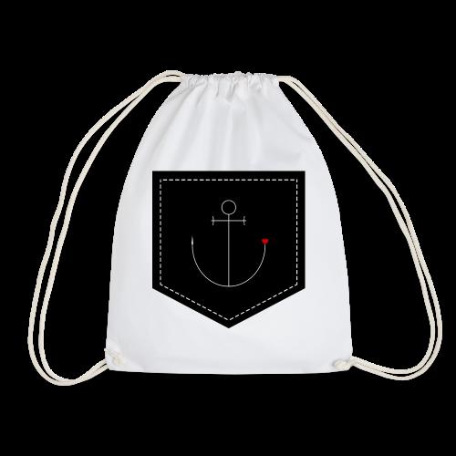 Brusttasche Anker mit Herz - Turnbeutel