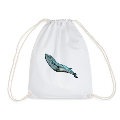 Ręcznie malowany wieloryb ocean - Worek gimnastyczny