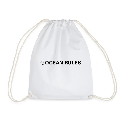 oceanrules black - Turnbeutel