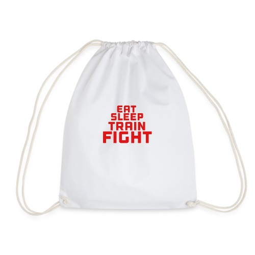 Eat sleep train fight - Drawstring Bag