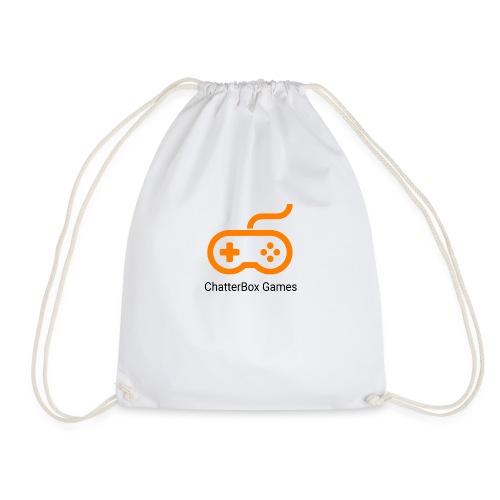 Logo with Black text - Drawstring Bag