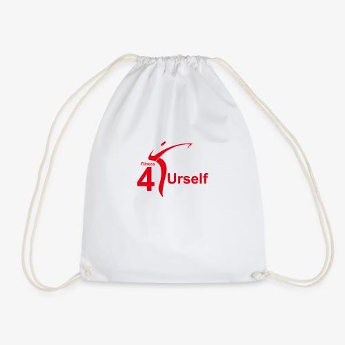 Fitness 4 Urself Logo cmyk rot - Turnbeutel
