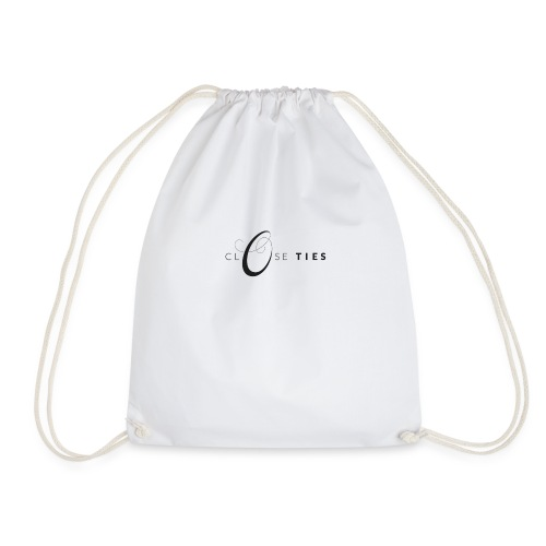 Close Ties_logo_black - Drawstring Bag