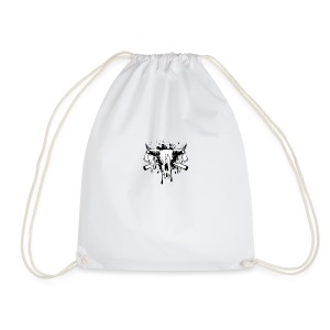 14255266 Vector illustration skull bull and crosse - Drawstring Bag