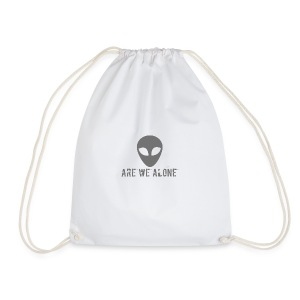 Are we alone logo - Drawstring Bag