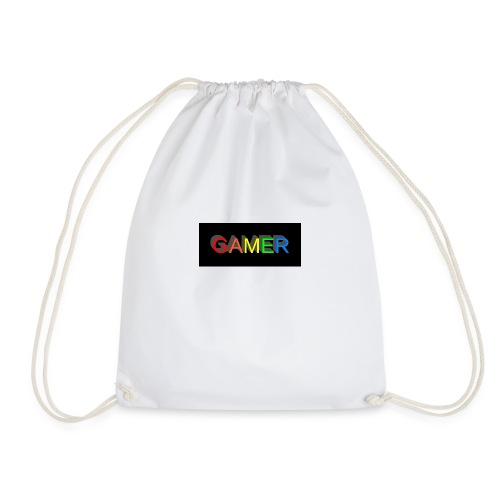 gamer shirt logo - Drawstring Bag