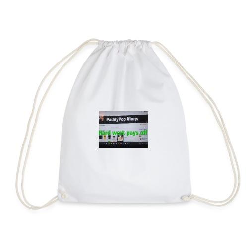hard work pays off - Drawstring Bag