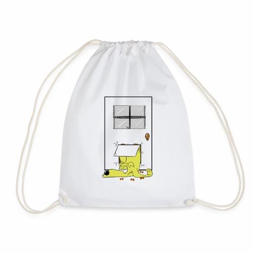 Stuck in a door dog - Drawstring Bag