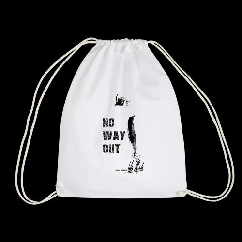Four Letters Shirt No Way Out schwarz - Turnbeutel