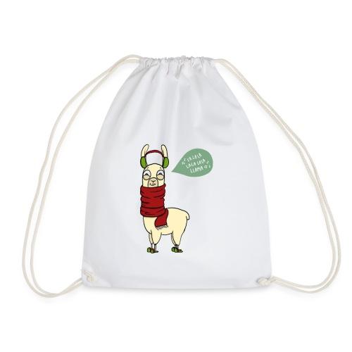 Holiday Llama - Drawstring Bag
