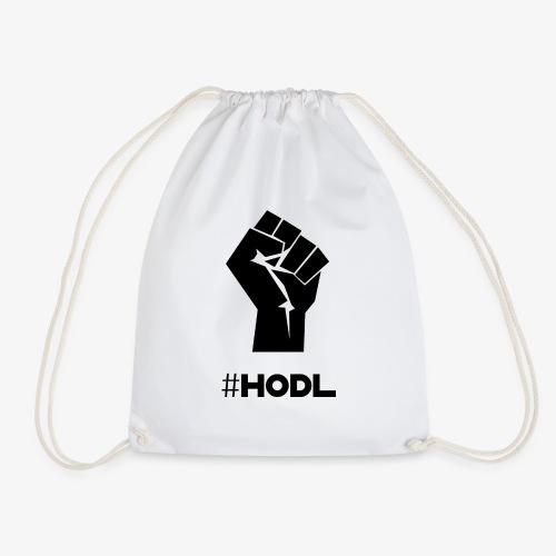 HODL-fist-b - Drawstring Bag
