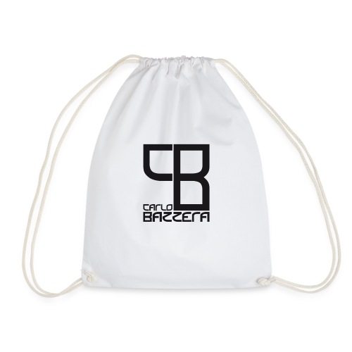 Carlo Bazzera Black on White - Drawstring Bag