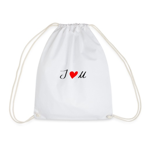 I-love-you - Drawstring Bag