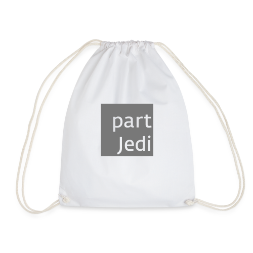 part Jedi white on 50%grey - Turnbeutel