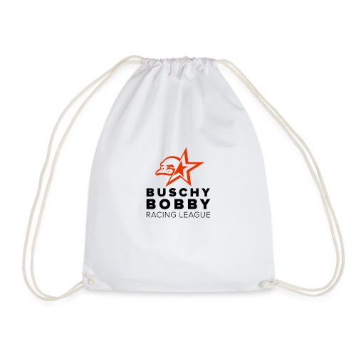 Buschy Bobby Racing League on white - Drawstring Bag