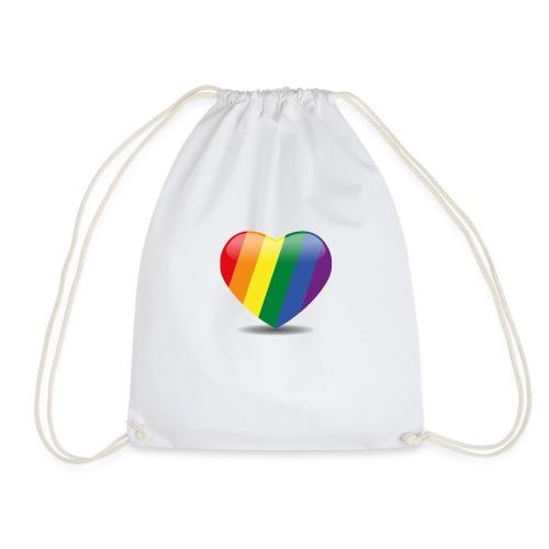 Regenboog hart - Gymtas