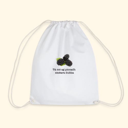 Picking blackberries - Drawstring Bag