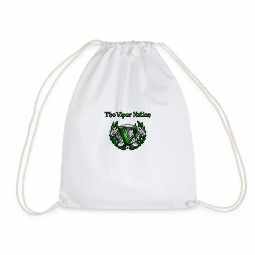 TheViperbanner and logo - Drawstring Bag