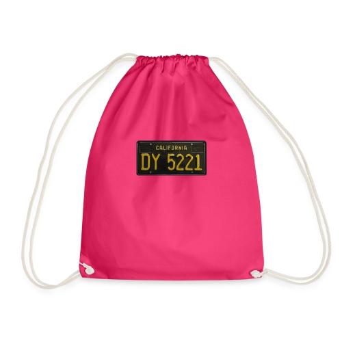 CALIFORNIA BLACK LICENCE PLATE - Drawstring Bag
