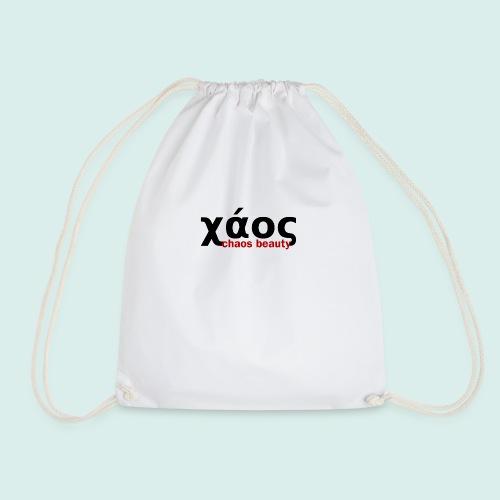 chaos in greek - Drawstring Bag