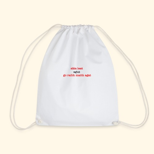 Good bye and thank you - Drawstring Bag