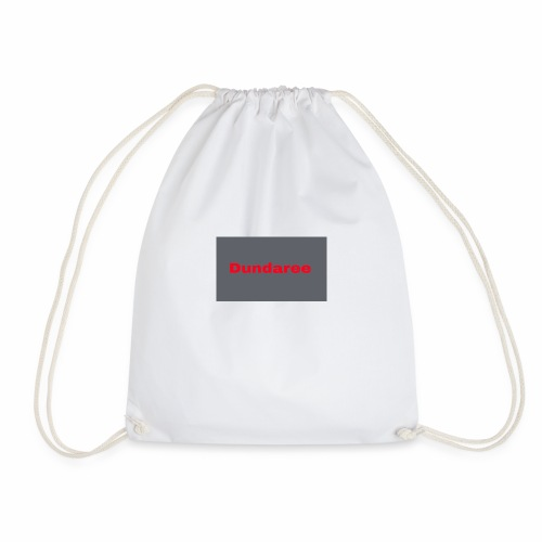red dundaree t-shirt - Drawstring Bag