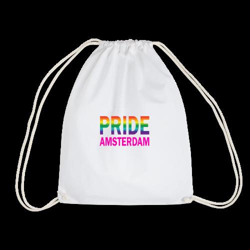 Pride Amsterdam in regenboog kleur en roze - Gymtas