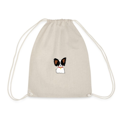 Papillon dog - Drawstring Bag