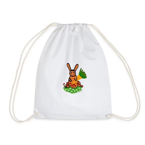 Rabbit with carrot - Drawstring Bag