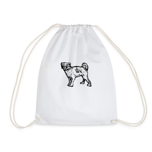 Pug Dog - Drawstring Bag