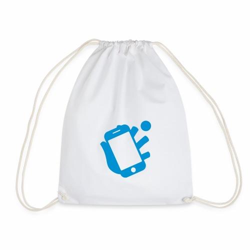 Smartphone-Tennis Logo Print - Turnbeutel