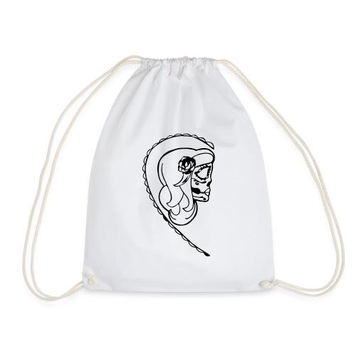 HER SUGAR SKULL - Drawstring Bag