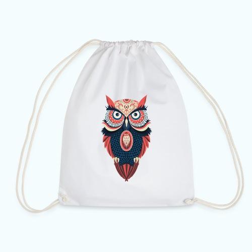 Hippie owl - Drawstring Bag