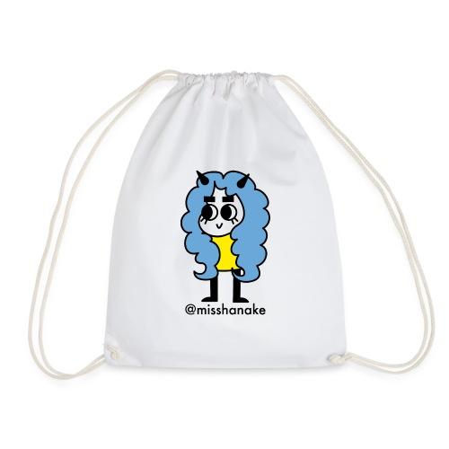 hana-chan ✻ blue yellow black - Drawstring Bag