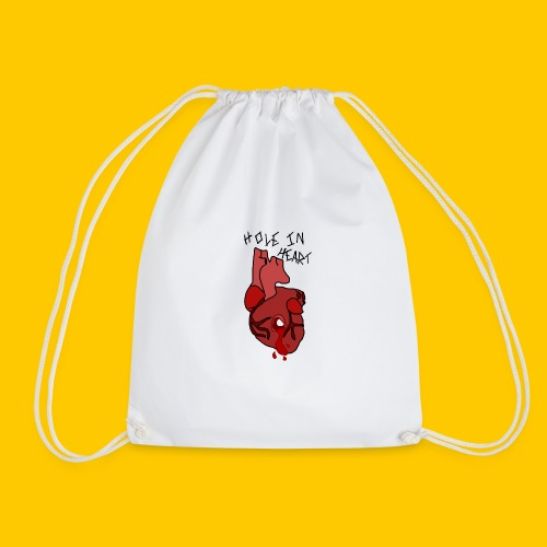 Hole.. Heart. - Drawstring Bag