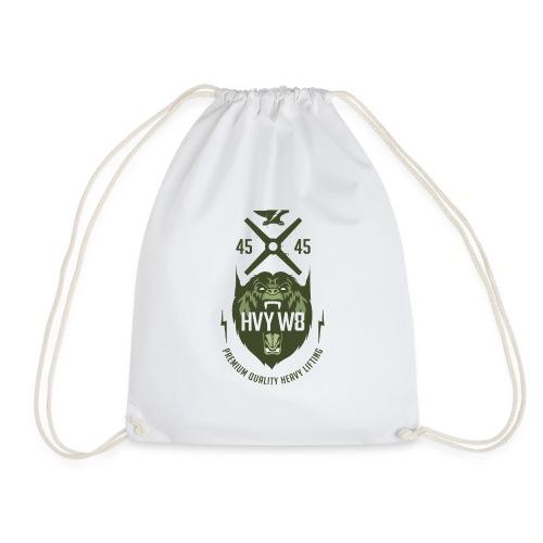 HVYW8_Logo_Bear - Drawstring Bag