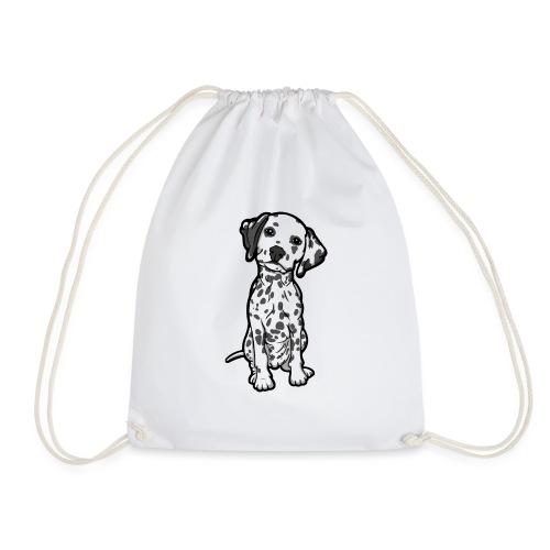 Dalmatian Grey Spots - Drawstring Bag