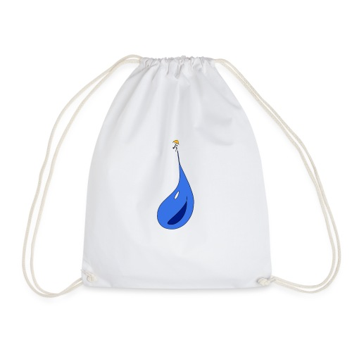 Man on raindrops - Drawstring Bag