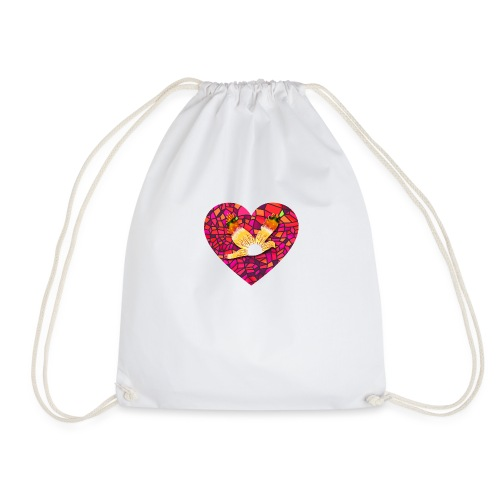 Make your heart fly with peace - Drawstring Bag
